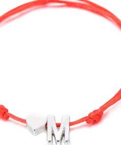 Bracelet Couple Initiale M