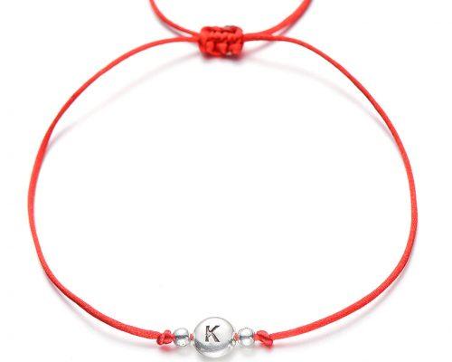 Bracelet Couple Lettre Rouge